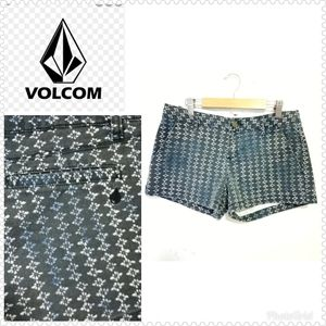 Volcom Junior Shorts Blue Print patterned Sz 3/26